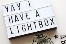 Lightbox Quotes / Light Boxes with nice quotes