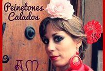 Peinetones Artesanales EXCLUSIVOS! / Peinetones artesanales, realizados con cuentas de vidrio, facetadas brillantes, perlas y flores de raso.