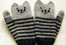 Вязаные коты