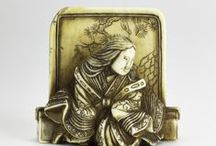 Netsuke / Explore our collection of wonderful miniature Japanese sculptures that served functional and aesthetic purposes.  Discover more at http://www.nms.ac.uk