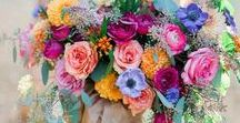 Floral. / Flower arrangements, beautiful bouquets and creative ideas.  Floral admiration/inspiration.