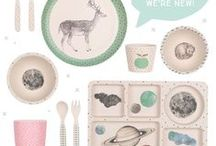 our bamboo dinnerware. / Love Mae Products