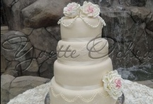 Pastel de boda en fondant, Mexicali / Wedding cake / Pastel de boda en Mexicali / Wedding cake