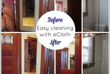 e-cloth Before & After / What our homes look like before e-cloth and then (gloriously) after cleaning with e-cloth and just water. #itsamiracle #beforeandafter