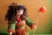 Daily Colours Blog - Needle Felting & Wet Felting / Needle felted and wet felted soft creatures from the magical forest.