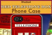 British Phone Cases / Little British Shop's Range of British style phone cases depicting the culture of Britain from the classic red telephone booth to the Doctor Tardis box and much more... www.littlebritishshop.com
