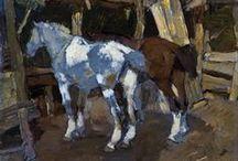 Horses-painting  photo
