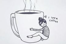 I love coffee. / A yawn is a silent scream for coffee