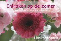 Inhaken op de zomer magazine / Glossy haakmagazine, zomerse bloemetjes - haken & brocante - inspiratie & creaties