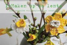 Inhaken op de lente magazine / 60 pagina's full colour magazine gevuld met haakpatronen, brocante inspiratie en creaties