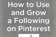 Pinterest Tips for Bloggers & Business Owners / Grow your audience with Pinterest and these tips and tricks from well established bloggers