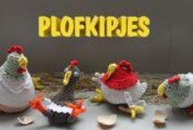 Gehaakte kipjes ~Spaar ze allemaal / De kipjes uit de campagne van Wakker Dier tegen de grote M, kippetjes haken gehaakte kippen