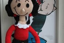 Crochet doll / Poppen haken - Crochet dolls - Pippi Lnaglous - Olijfje - Voetballertje