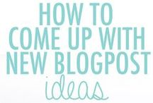 Blog Post Idea's / A collection of possible blog posts idea's