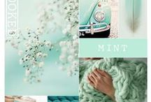 Colour palette yarn / kleurenpalet garen, katoen, wol.