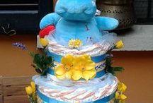 TORTE DI PANNOLINI / torte di pannolini, un regalo originale per mamme in dolce attesa, battesimi e primo compleanno, www.letortedellazia.it