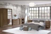 Birlea Lynx Bedroom / Modern and sleek, the Lynx bedroom range combines a high-gloss finish and walnut effect with bold silver detailing to make any space feel contemporary. Product details can be seen http://www.birlea.com/shop/bedroom/ranges/lynx
