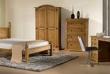 Birlea Corona Bedroom / A traditional range that would work in any home, the Corona features a waxed pine finish, contrasting handles and stud detailing. All information on these products can be found at http://www.birlea.com/shop/bedroom/ranges/coronabr