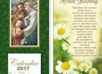 2017 Calendars, Christmas Cards & Advent Calendars / Catholic Christmas cards advent calendars & 2017 religious calendars, depicting Our lady of Lourdes, Our lady of Grace, Perpetual Help, St Patrick and St Joseph to name a few.