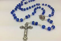 Rosary Beads & Chaplets / Rosary Beads and Chaplets, some containing holy water from the spring at the Grotto, we also have Rosaries which depict the Lourdes apparitions.