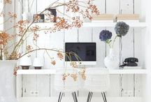 d e s k ▵▵▵ l i f e / Office styling, minimalistic design, work life., desk details, white and wood. #desklife