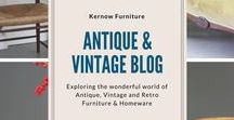 Antique Blog / Explore the world of Antique, Vintage and Retro Furniture and Homeware in the Kernow Furniture blog. #antiques #antiquefurniture #retro #vintage #vintagehome #cornwall