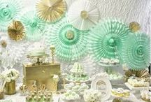 gold and MINT PARTY / have fun!
