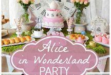 ALICE party / alice in wonderland , cute , giry birthdayPARTY