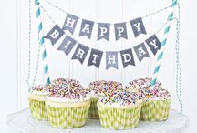 cake bunting / lovely cake topper & bunting for PARTY