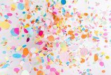 Confetti PARTY ideas / glitter, twinkle, cute