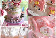 mymelody party / マイメロ マイメロディ ピアノちゃん クロミのかわいいお誕生日パーティー SANRIO mymelody birthday party!