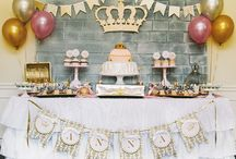 pink and gold Party / birthday party by pink&gold color