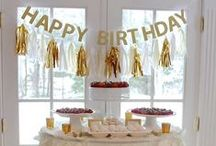 Gold party / gold color birthdayparty