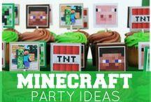 Minecraft party / Minecraft birthdayparty