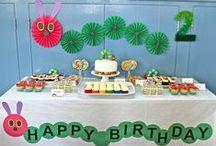 hungry caterpillar party / はらぺこあおむしのお誕生日パーティー