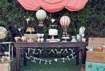 Air balloon party / Air balloon themed birthday party