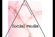 Twitter, Instagram & Facebook