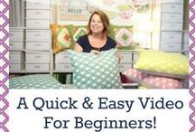 Sewing tutorials for beginners {Monica's tutorials} / Sewing for beginners.  Easy, quick, simple tutorials for sewing, quilting and crafting.