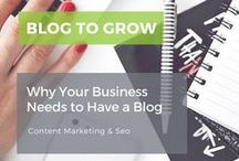 Blog to Grow Your Business / Blogging is the best way to grow your content and market your online business. Find blogging tips, tutorials, planners, printables, and strategies, and more. How to use Pinterest, Twitter, Facebook, Periscope, and other social media platforms to increase followers and attract your ideal audience. Learn to work from home, use SEO to improve your blogs ranking, and how to create images and content for Pinterest, your blog, and other online areas.