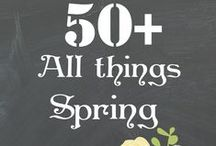 Spring DIY Crafts + Decorations / Spring projects, crafts with children, decorations, and activities.