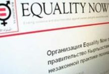 Equality Now / What Equality Now is doing to protect women's and girls' human rights around the world. / by Equality Now