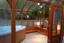 Hot Tubs and Greenhouses / Greenhouse structures used for hot tubs and lap pools.