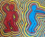 Keith Haring / Γνωρίζοντας τον Keith Haring Εικαστικές δημιουργίες των μαθητών του 7ου ΔΣ Νίκαιας www.7dimotikonikaias.blogspot.gr
