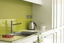 Splashbacks etc. / From glass to quartz, to Silestone and Corian here's some inspirational splashbacks to make a feature out of.