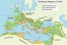 Roman Empire 750 BC ~ 476 AC / The Roman Empire reached its greatest expanse during the reign of Trajan (98–117 AD). Christians rose to power in the 4th century, during which time a system of dual rule was developed in the Latin West and Greek East.  476 AD - The end of the Western Roman Empire and the fall of Ancient Rome. The last Roman Emperor Romulus Augustus is defeated. The eastern half of the Roman Empire continued as what would later be known as the Byzantine Empire.