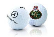Logo Printed Golf Balls / Examples of 'Golf Balls' printed with company logos.