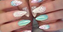 Inspiration nails / Other techs nails that I love or would love to do! Nails nail art nail gems nail paints acrylic nails gel nails shellac nails