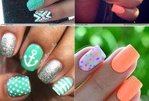 summer nails♔ / i don't have long nails but i want cute nails ideas➳