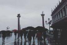 Venezia / Venedig Venezia Italy Spring rain melancholie