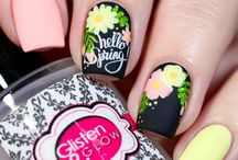 Spring nails / Pastels, flowers, bunnies , rain, everything spring nails art, nail art supplies and inspiration